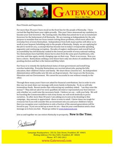 Contribution Letter